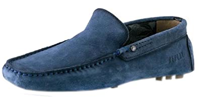 Shoes 7 Mens ReplayCuster Suede Moccasin Loafers Navy mNOy8vn0w