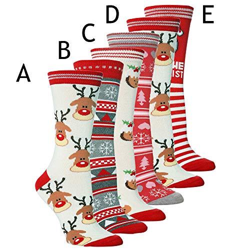 Holiday Socks, 5 Different Designs,Christmas Gift, Knee High Novelty Christmas Socks (E) - http://coolthings.us