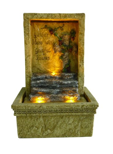 OK LIGHTING FT-1207/1L 9-Inch H Tabletop Graceful Led Fountain
