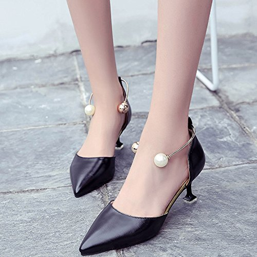 Shoes GAOLIM Hueco Verano Punta De Comodín Negro Con Mujer Es Sandalias Luz High Heel Bien El La Zapatos c4tr4W