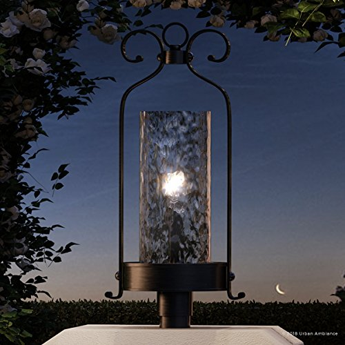 Luxury Tuscan Outdoor Post/Pier Light, Large Size: 28.5