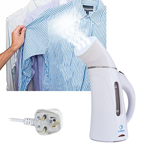 ROGUCI Handheld Vertical Clothes Steam Iron, Fabric Heat Garment Steamer,Standing Ironing Cleaner 150ML,White