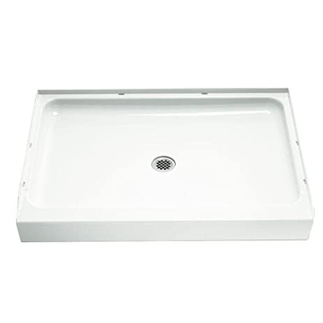 Sterling/Vikrell Ensemble 48-Inch Shower Base, White, High Gloss ...