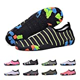 BlanKey Water Sports Shoes Quick-Dry Barefoot Flexible Flats Beach Swim Shoes for Men Women Kids Shiny green-39