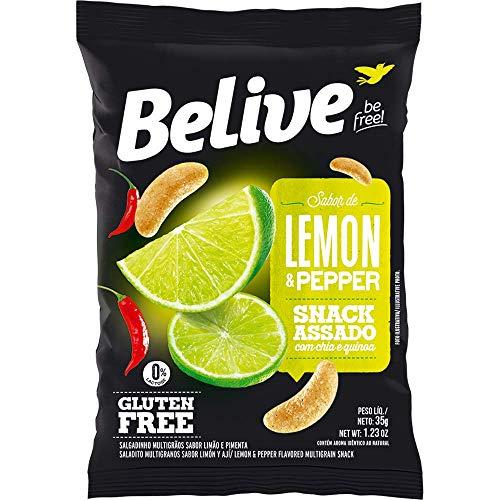 Snack Multigrãos Sabor Lemon & PePPer Snack Saudável sem Glúten sem Lactose Belive 35g