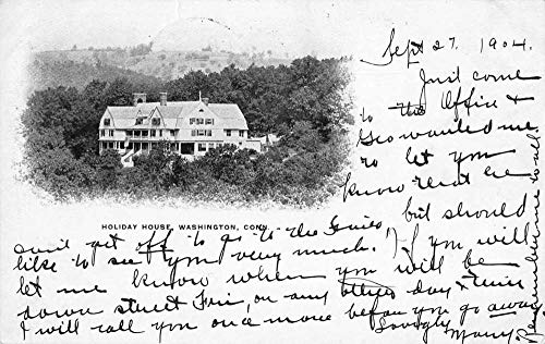 Washington Connecticut Holiday House Private Mail Vintage Postcard JB627705
