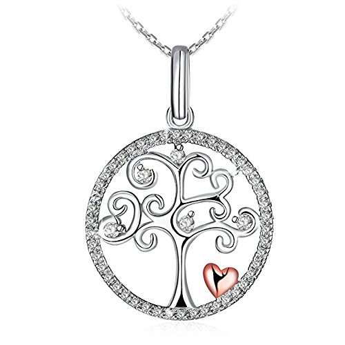 Necklace, Christmas Gift Limited Edition and Ordinary Edition, 925 Sterling Silver Pendant Necklace J.Rosée Fine Jewelry for Women Tree of Life, 18''+ 2 Extender
