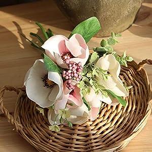 Big-Deal_Simulation Flower Artificial Magnolia Flowers Wedding Bride Bouquet Silk DIY Wedding Household Decoration Magnolia Flower - (Color:1) 59