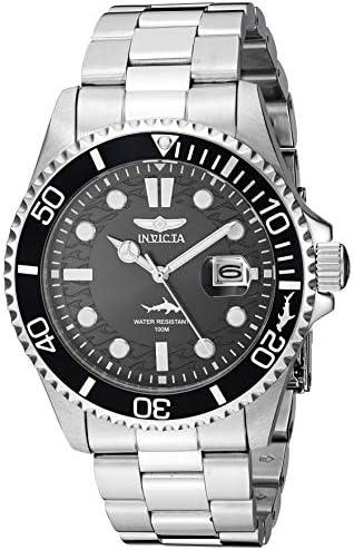 Invicta Men's Pro Diver 43mm Stainless Steel Quartz Watch, Silver (Model: 30018) WeeklyReviewer