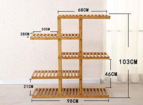 AIDELAI estante de flores de bambú para múltiples pisos, cesta de ...