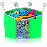 Corner Toy Shower Caddy By Lebogner - Baby Bath Toy Organizer With 4 Strong Suction Cups, Toddler Bathtub Storage Toy Holder With Bottom Mesh Net For Easy Draining And Drying, Kids Toy Shower Caddy