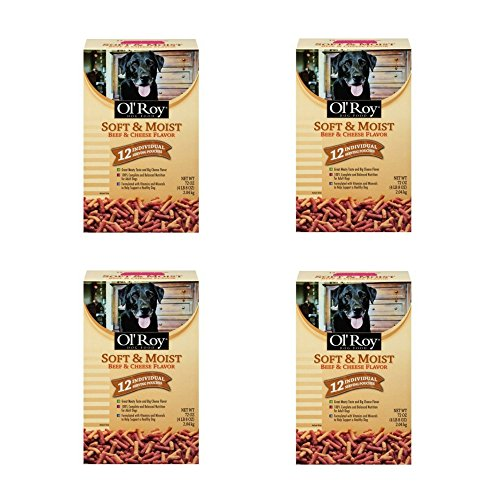 Ol' Roy Soft & Moist Beef & Cheese Flavor Dog Food 72 oz. Box, (4 pack) by Ol' Roy