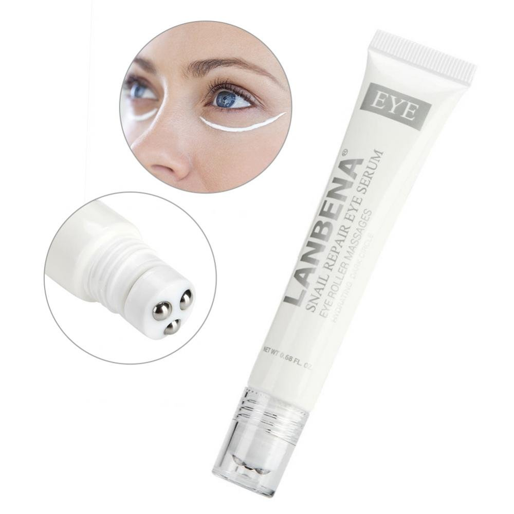 Dark Circle Eye Cream, Snail Repair Eye Serum Eye Essence Natural Roller Massage Anti-aging Hydrating Dark Circle Brrnoo
