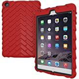 Gumdrop Droptech Cases Designed for The Apple iPad Mini 3, 2, 1, (2014, 2013, 2012) Tablet for K-12 Students, Teachers, Kids - Red/Black, Rugged, Shock Absorbing, Extreme Drop Protection