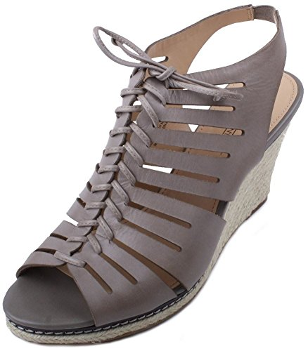Circa Joan & David Women's Nettle Open-Toe Espadrille,Grey,9.5 M US