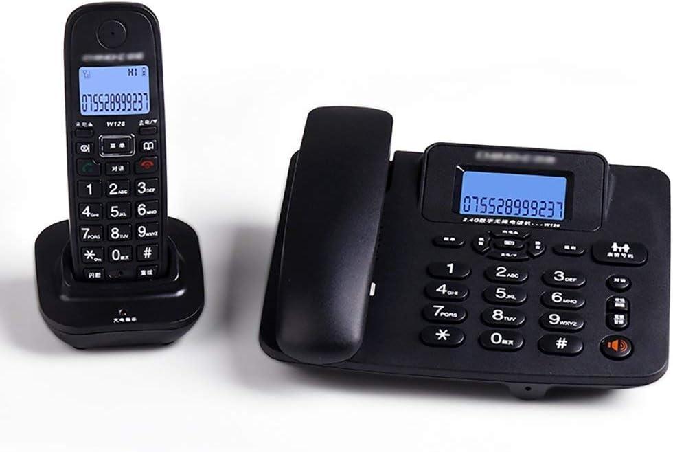 PHONE Juego de teléfono inalámbrico Digital con Pantalla LCD con Paquete de contestador automático de 2 (Color: Negro) (Color : Black): Amazon.es: Electrónica