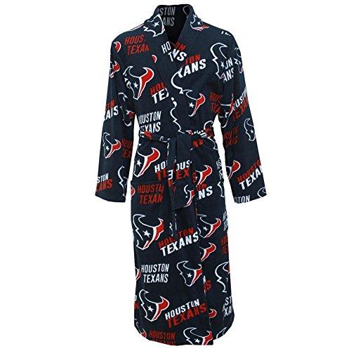 Concepts Sport Houston Texans NFL Wildcard Men's Micro Fleece Robe - Nfl Wild Card