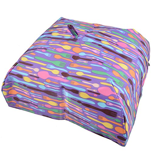 uxcell Oxford Fabric Forks Print Kitchen Table Insulated Food Holder Storage Cover Purple