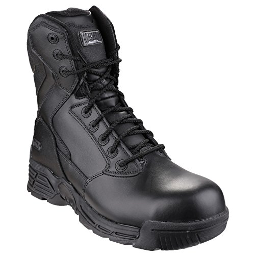 Hi-Tec Magnum Stealth Force 8.0 Leather CT CP Sidezip WPI Wandern Stiefel - AW17 Black