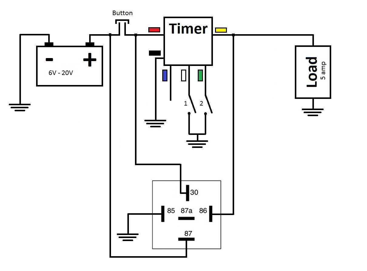 Multi Functional 3v 5v Time Delay Relay Timer Amplifier Circuit Schematiccircuit Diagram World