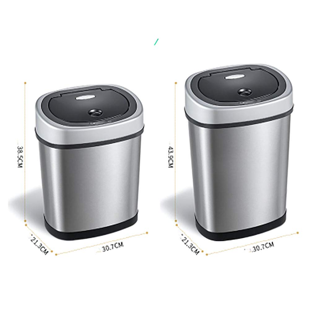 Bote de basura Sensor De Movimiento Infrarrojo De Acero Inoxidable Sin Contacto De DepóSito AutomáTico (BateríA: Amazon.es: Hogar