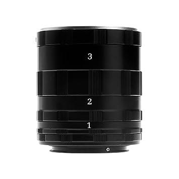 Smcstudio 0942297903292-3 tubos de extensión macro para cámaras ...