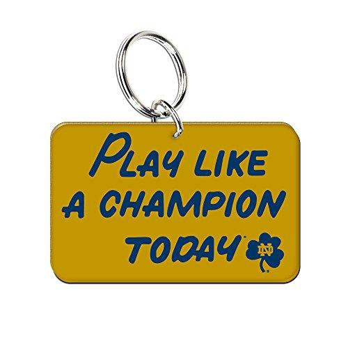 Notre Dame Play Like a Champion Premium Acrylic Key - Dame Gym Notre Bag