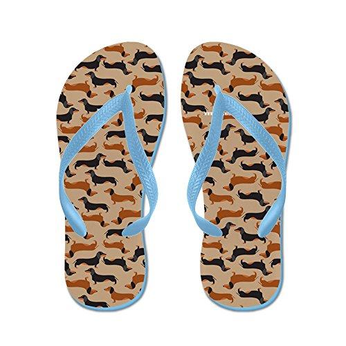 Cafepress Xx Khaki - Flip Flops, Roliga Rem Sandaler, Strand Sandaler Caribbean Blue