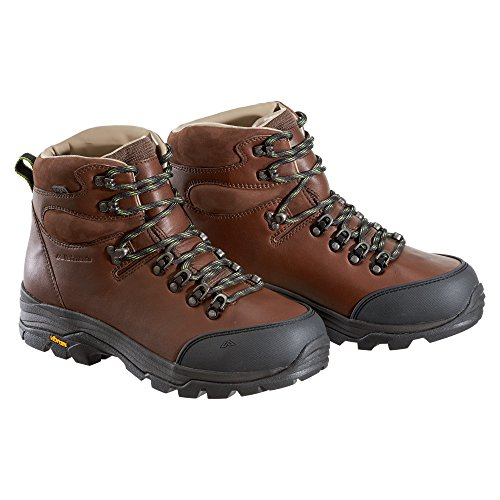 Kathmandu Tiber Men's ngx Leather Hiking Boots Chestnut/Icon Green 51ZzvHp