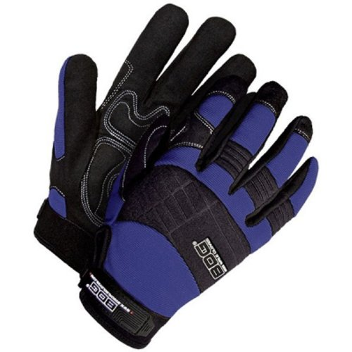 Bob Dale 20-1-10605N-XL Mechanics Glove with Synthetic Leather Anti-Vibe Gel Palm, X-Large, Navy