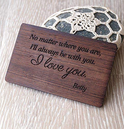 Christmas GIFT IDEA Personalised Photo engraved  /& Text Engraved Rectangle