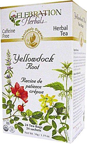Celebration Herbals Organic Yellowdock Root Tea Caffeine Free -- 24 Herbal Tea Bags(Pack of 3)