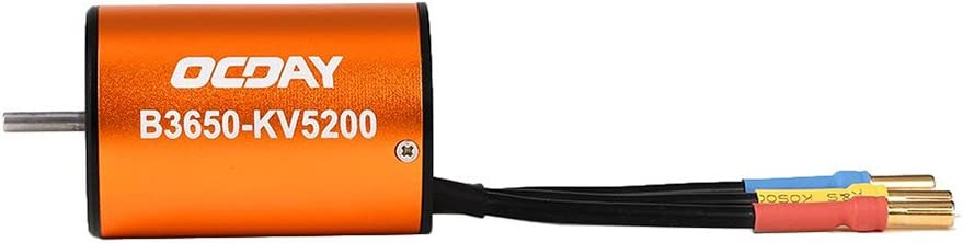 Cigooxm OCDAY 1//10 B3650 5200KV 4P Sensorless Brushless Motor CNC for 1//10 RC Car