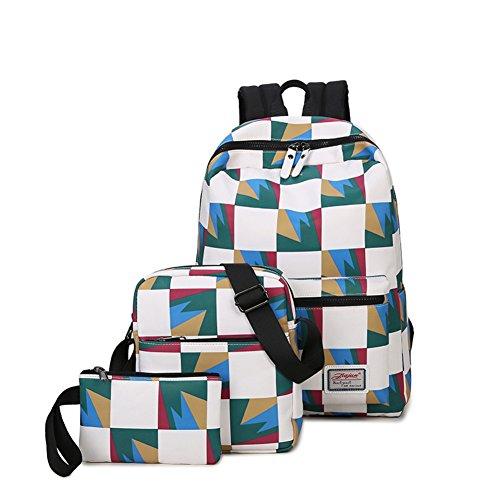 school à sac coréenne dos femme le Vague d'ordinateur sac B student en toile B Sac de frapper sac couleur à high bandoulière qPxwFfw8A