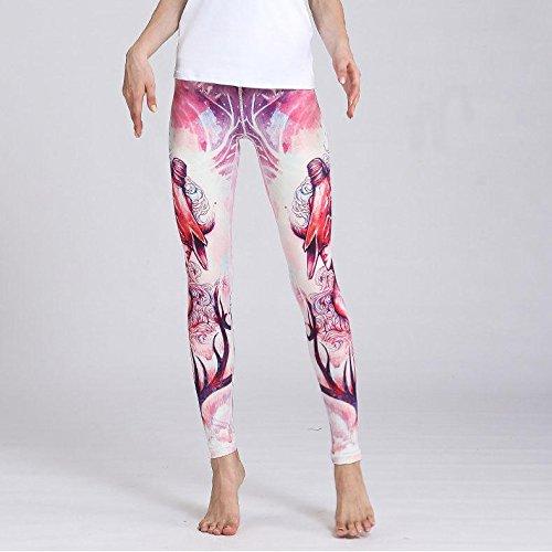 Erica Femmes taille haute Fitness Yoga Sport Pantalon Imprimé Stretch Constellation Leggings Bélier