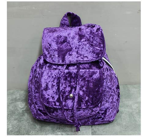 Amazon.com: Velvet Backpack Vintage Oldschool Simple Designer Soft Women Small Travel Backpacks School Bags for Teenager: Kitchen & Dining