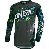 O'Neal Element Villain Motocross Kinder Jersey MTB Mountain Bike Trikot Enduro MX FR DH Kids, 002E-9-Youth, Farbe Grau, Größe M