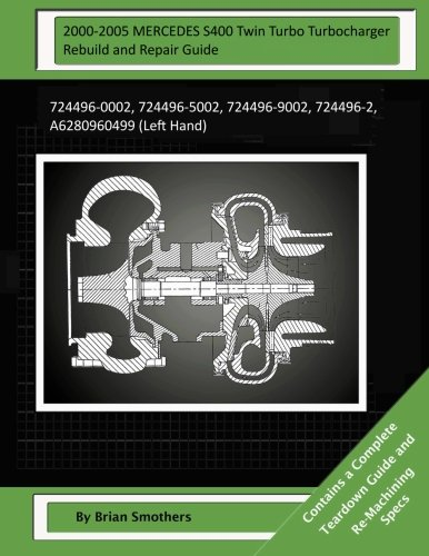Download 2000-2005 MERCEDES S400 Twin Turbo Turbocharger Rebuild and Repair Guide: 724496-0002, 724496-5002, 724496-9002, 724496-2, A6280960499 (Left Hand) pdf epub