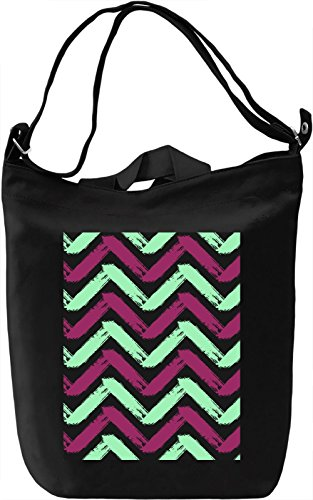 Colourful Pattern Borsa Giornaliera Canvas Canvas Day Bag| 100% Premium Cotton Canvas| DTG Printing|