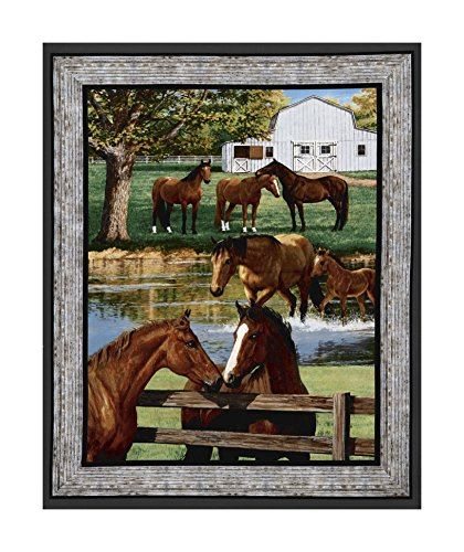 Springs Creative Products 0546082 Wild Wings Summer Breeze Horse Wall 36in Panel Multi Fabric by The Yard, Multicolor