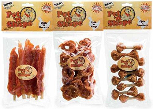 3 Pack Variety Pet'n Shape Chik'n Treats
