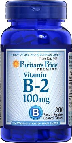 Puritan Pride 2 Bouteilles de B-2 (riboflavine) 100 mg-100 mg-200-Tablet