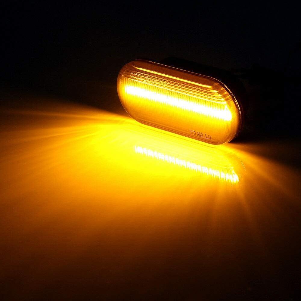Lumiereholic Indicatori di Direzione Laterali Dinamica Lampeggianti Luce LED Indicatori di Direzione A LED Dynamic LED Marker Lampada DAmbra