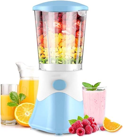 QQB & Exprimidor, máquina exprimidora de una Sola Taza, licuadora de Frutas y Verduras, Extractor de Batidos for el hogar, exprimidor plástico fácil de operar, Azul: Amazon.es