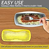 Microwave Pasta Cooker with Strainer, Food Grade