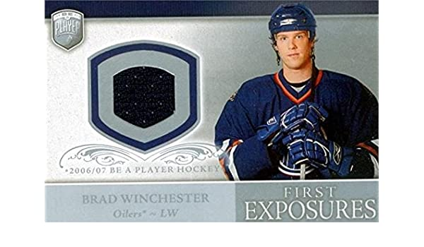 Brad Winchester player worn jersey patch hockey card (Edmonton Oilers) 2006  Upper Deck First Exposures  FEBW at Amazon s Sports Collectibles Store 005ac5cf7
