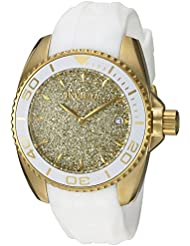 Invicta Womens Angel Quartz Stainless Steel and Silicone Casual Watch, Color:White (Model: 22703)