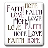 3dRose lsp_186717_2 Faith Hope Love Double Toggle Switch