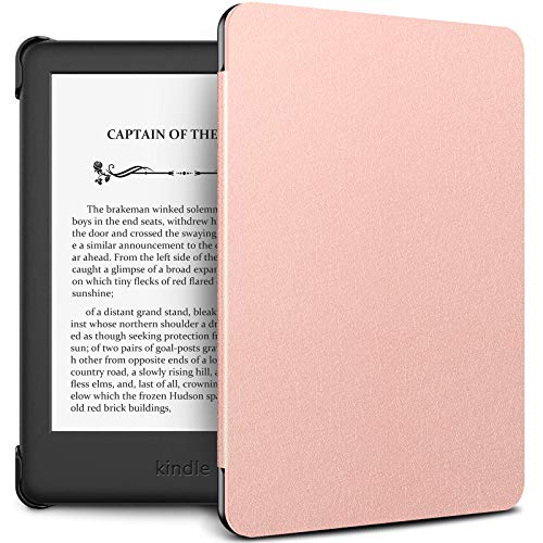 INFILAND Kindle 10th Gen 2019 Case, Shell Case Cover Auto Wake/Sleep Compatible with All-New Kindle 10th Generation 2019 Release Only, Rose-Gold