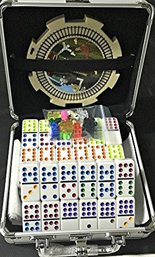 ken Domino Set, Professional Set of 91, Double of 12 (Mexican Train Hub)